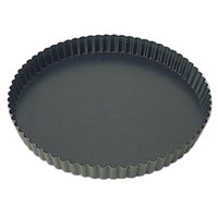 Matfer Bourgeat 332214 Exopan 8 5/8 inch Fluted Non-Stick Tart / Quiche Pan