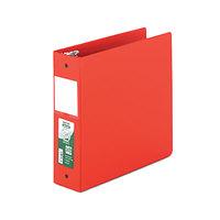 Samsill 14383 Clean Touch Red Antimicrobial Reference Binder with 3 inch Round Rings
