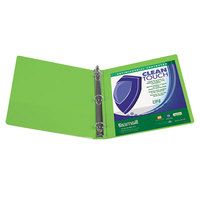 Samsill 17295 Clean Touch Lime Antimicrobial View Binder with 4 inch Round Rings