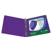 Samsill 17298 Clean Touch Purple Antimicrobial View Binder with 4 inch Round Rings