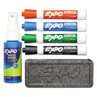 Expo 80653 Assorted 4-Color Low-Odor Chisel Tip Dry Erase Marker Starter Set