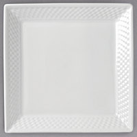 Syracuse China 999013136 EOS Constellation 8 1/2 inch Square Lunar Bright White Porcelain Plate - 12/Case