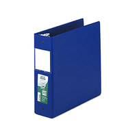 Samsill 14382 Clean Touch Blue Antimicrobial Reference Binder with 3 inch Round Rings