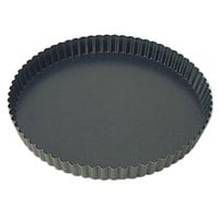 Matfer Bourgeat 332213 Exopan 7 7/8 inch Fluted Non-Stick Tart / Quiche Pan
