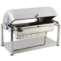 Bon Chef 11041D Olympia 8 Qt. Dripless Stainless Steel Roll Top Chafer