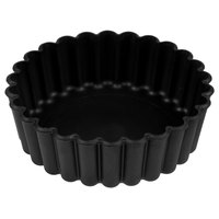 Matfer Bourgeat 345151 Exoglass 4 inch Fluted Deep Non-Stick Tart / Quiche Pan   - 12/Pack