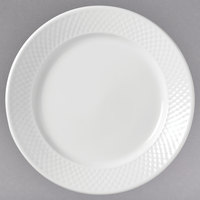 Syracuse China 999013139 EOS Constellation 9 inch Round Lunar Bright White Porcelain Plate - 24/Case