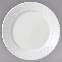 Syracuse China 999013134 EOS Constellation 8 1/4 inch Round Lunar Bright White Porcelain Plate - 36/Case