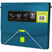Samsill 10130 TRIO Turquoise 3-in-1 Binder Organizer with 1 inch Round Rings