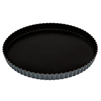 Matfer Bourgeat 332227 Exopan 11 inch Fluted Non-Stick Tart / Quiche Pan with Removable Bottom