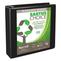 Samsill 16960 Earth's Choice Black Biobased View Binder with 2 inch D Rings