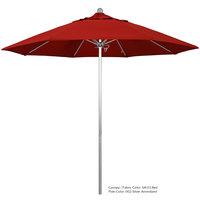 California Umbrella ALTO 908 PACIFICA Venture 9' Round Push Lift Umbrella with 1 1/2 inch Aluminum Pole - Pacifica Canopy