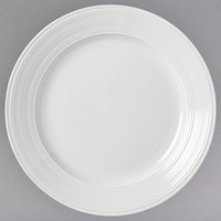 Syracuse China 999001134 Galileo Constellation 8 1/4 inch Round Lunar Bright White Porcelain Plate - 36/Case