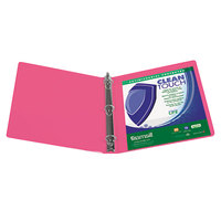Samsill 17296 Clean Touch Berry Antimicrobial View Binder with 4 inch Round Rings