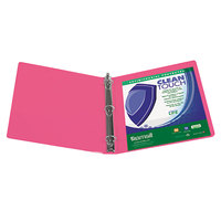 Samsill 17286 Clean Touch Berry Antimicrobial View Binder with 3 inch Round Rings