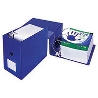 Samsill 16322 Clean Touch Blue Antimicrobial Reference Binder with 6 inch D Rings