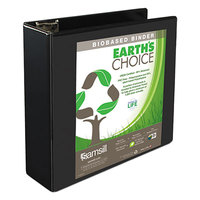 Samsill 16980 Earth's Choice Black Biobased View Binder with 3 inch D Rings