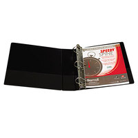Samsill 19160C Speedy Spine Black Heavy-Duty View Binder with 2 inch D Rings