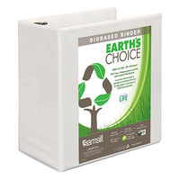 Samsill 16907 Earth's Choice White Biobased View Binder with 5 inch D Rings