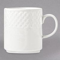 Syracuse China 999013572 EOS Constellation 12 oz. Lunar Bright White Stacking Porcelain Mug - 36/Case