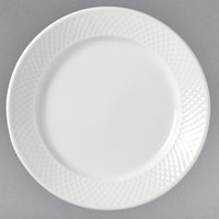 Syracuse China 999013149 EOS Constellation 10 1/4 inch Round Lunar Bright White Porcelain Plate - 12/Case