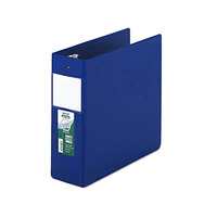 Samsill 14392 Clean Touch Blue Antimicrobial Reference Binder with 4 inch Round Rings