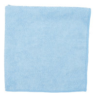 Carlisle 3633414 16 inch x 16 inch Blue Terry Microfiber Cleaning Cloth - 12/Case