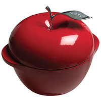 Lodge E3AP40 3.5 Qt. Red Color Enamel Apple Pot