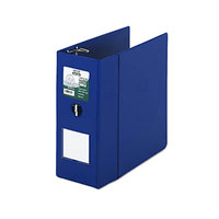 Samsill 16302 Clean Touch Blue Antimicrobial Reference Binder with 5 inch D Rings