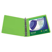 Samsill 17285 Clean Touch Lime Antimicrobial View Binder with 3 inch Round Rings