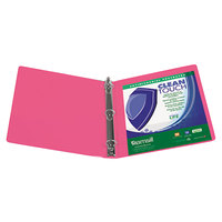 Samsill 17236 Clean Touch Berry Antimicrobial View Binder with 1 inch Round Rings