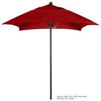 California Umbrella ALTO 604 SUNBRELLA 2A Venture 6' Square Push Lift Umbrella with 1 1/2 inch Aluminum Pole - Sunbrella 2A Canopy