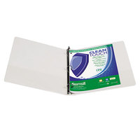 Samsill 17237 Clean Touch White Antimicrobial View Binder with 1 inch Round Rings
