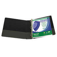 Samsill 18280 Clean Touch Black Antimicrobial View Binder with 3 inch Locking Round Rings
