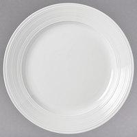 Syracuse China 999001162 Galileo Constellation 11 7/8 inch Round Lunar Bright White Porcelain Plate - 12/Case