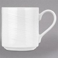 Syracuse China 987659437 Silk 12.25 oz. Royal Rideau White Stacking Porcelain Mug - 36/Case