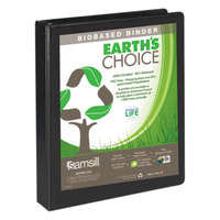 Samsill 16930 Earth's Choice Black Biobased View Binder with 1 inch D Rings