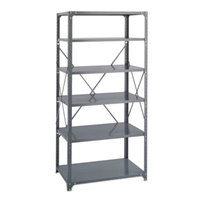 Safco 6270 Dark Gray 5 Shelf Commercial Steel Shelving Unit - 36 inch x 24 inch x 75 inch