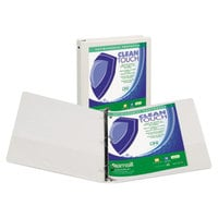 Samsill 17297 Clean Touch White Antimicrobial View Binder with 4 inch Round Rings