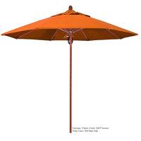 California Umbrella FLEX 908 SUNBRELLA 2A Sierra 9' Round Push Lift Umbrella with 1 1/2 inch Fiberglass Pole - Sunbrella 2A Canopy