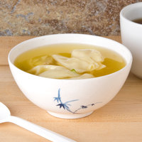 Thunder Group 3006BB Blue Bamboo 9 oz. Round Melamine Soup Bowl - 12/Case