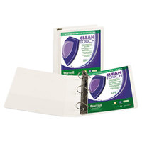 Samsill 16267 Clean Touch White Antimicrobial View Binder with 2 inch D Rings