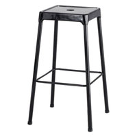 Safco 6606BL Black Bar Height Steel Stool