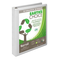 Samsill 16937 Earth's Choice White Biobased View Binder with 1 inch D Rings
