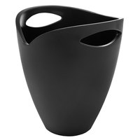 Franmara 9047-01 3.75 Qt. Tulip Customizable Black Heavy-Duty Bottle Bucket