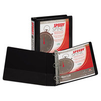 Samsill 19150C Speedy Spine Black Heavy-Duty View Binder with 1 1/2 inch D Rings