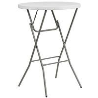 Flash Furniture DAD-YCZ-80R-2-BAR-GW-GG 32 inch Round Granite White Bar Height Plastic Folding Table