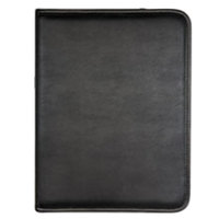 Samsill 70810 8 1/2 inch x 11 inch Black Vinyl Padfolio