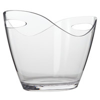 Franmara 9078 7.75 Qt. Large Customizable 4-Bottle Clear Acrylic Oval Wine Bucket