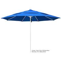 California Umbrella ALTO 118 OLEFIN Venture 11' Round Pulley Lift Umbrella with 1 1/2 inch Aluminum Pole - Olefin Canopy